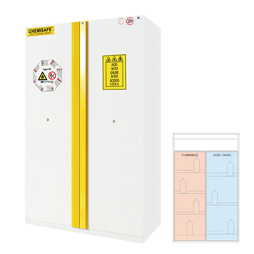 Fire Safety & Corrosive Cabinet (Combi type)